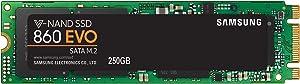 Samsung V-Nand SSD 860 EVO SATA M.2, 250 GB, 550 MB/s Seq Read, 520 MB/s Seq Write
