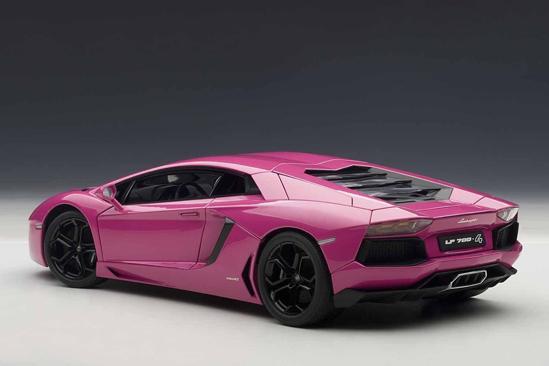 amazoncom autoart 118 lamborghini aventador lp700 4 pink automotive