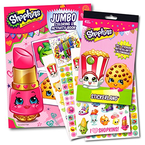 (Shopkins Coloring Activity Book With Stickers Set Bundle with Separately Licensed Specialty GWW Reward Stickers)