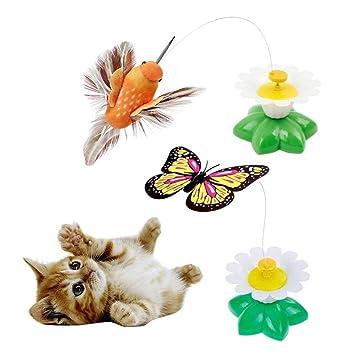 Mariposa,Pájaro Juguete Para Gatos, Juguete Interactivo Del Gato De La Mariposa Y Del