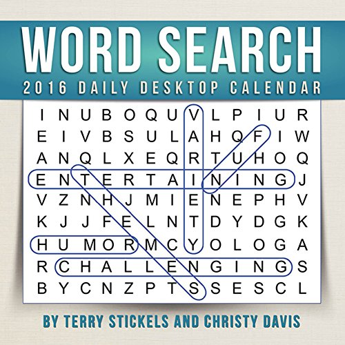Word Search - 2016 Daily Boxed Calendar 6 x 6in