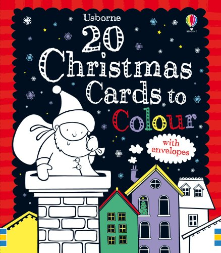 20 Christmas Cards to Colour (Colouring Cards) ebook