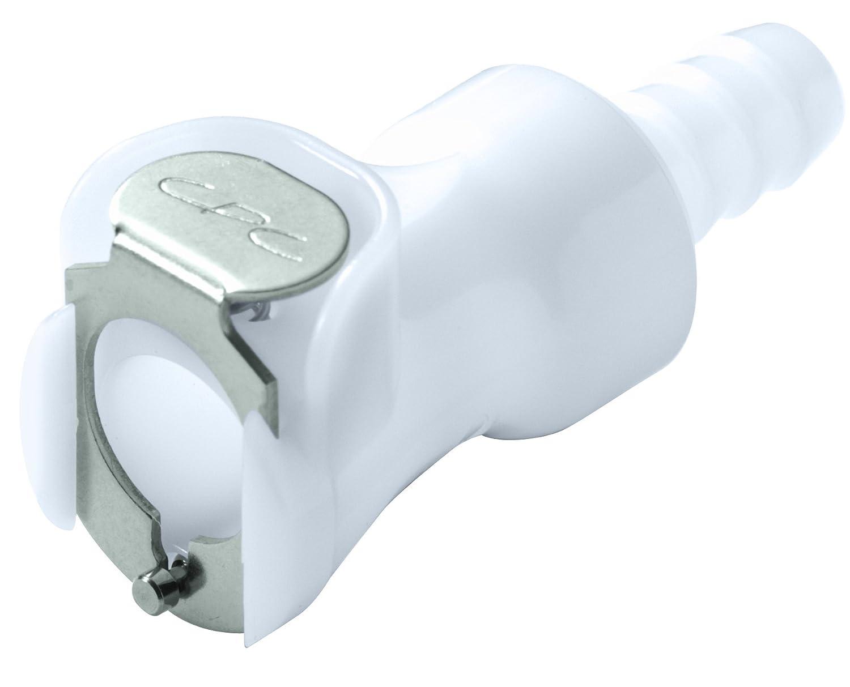 Coupler 1//4 Flow Coupler x 1//4 Barb Colder PLCD17004 Acetal Tube Fitting Shutoff In-Line