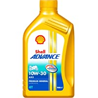 Shell Advance AX5 550031343 10W-30 API SL Premium Mineral Motorbike Engine Oil (900 ml)