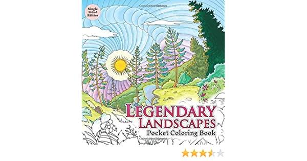 Amazon Legendary Landscapes Pocket Coloring Book 9780994881533 Witek Radomski Carrie Wong Books
