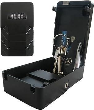 Caja de seguridad Frostfire Mooncode, portátil, con clave de bloqueo y llave de respaldo: Amazon.es: Bricolaje y herramientas