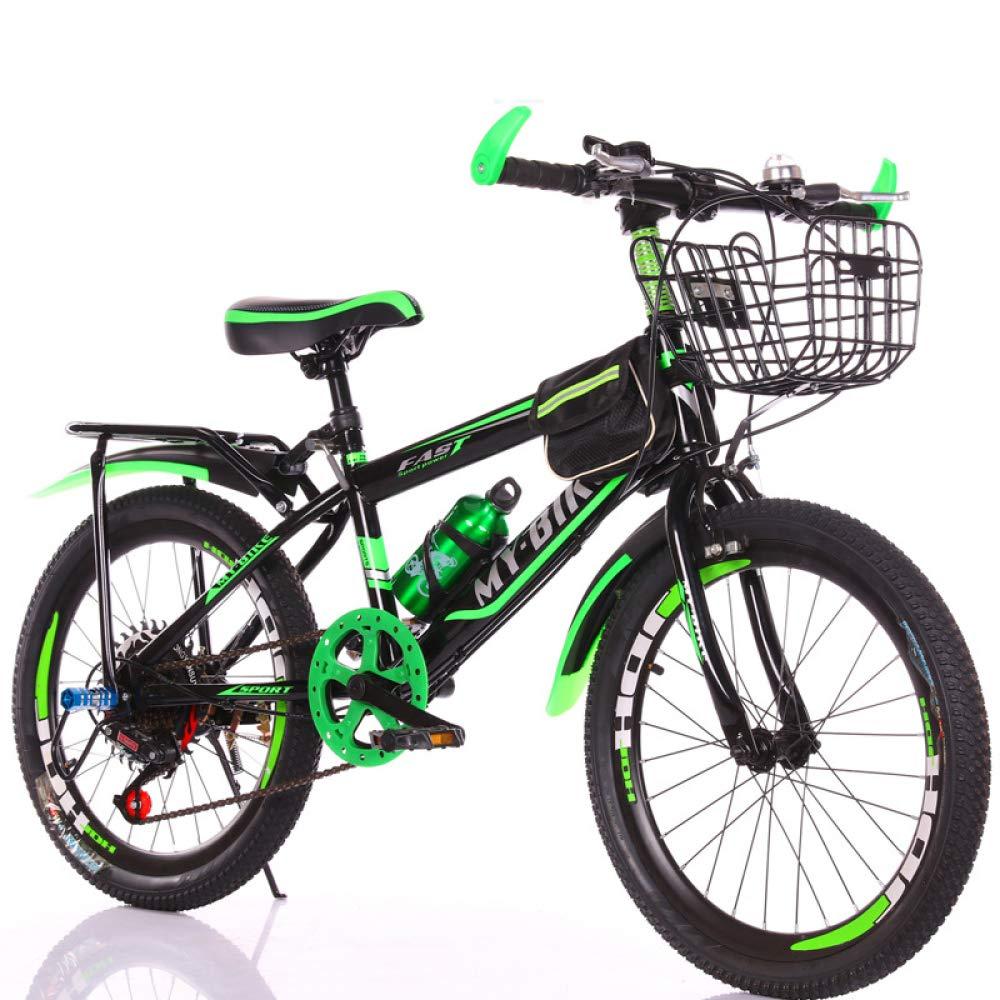 MLL Studentenfahrrad, Mountainbike, Auto Aus Legiertem Stahl, 18-22 Zoll Single-Speed-Mountainbike Grün 18 Zoll
