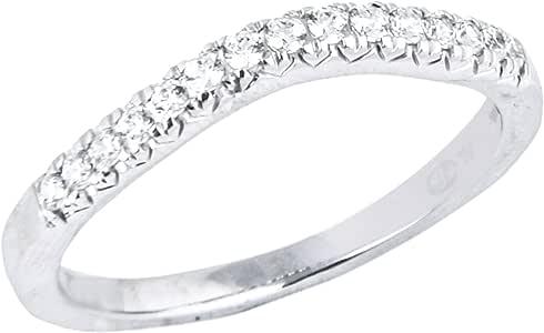 EternalDia 1/5Carat T.W. Diamond 14kt White Gold Contour Ring