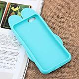 Zootopia Judy Hoops Rabbit Bunny Soft Silicone Case for iPhone 6 6s iPhone6 iPhone6s Regular Size Disney 3D Cartoon Animation Green Color Thick Shockproof Shock Drop Proof Gift Girls Teens Kids Boys
