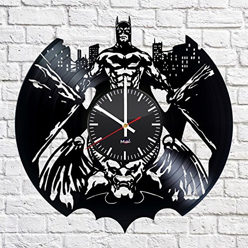 Batman Arkham City Vinyl Record Wall Clock Gift