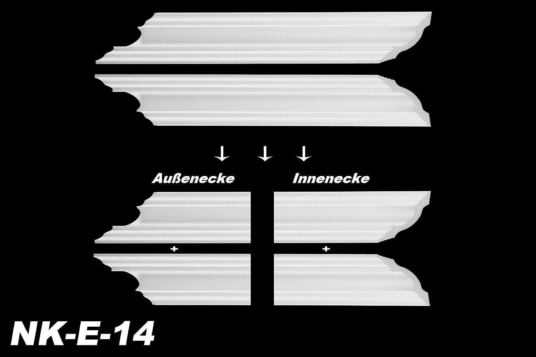 NK-E E-35 Modell:NK-E-35 Innenecke Au/ßenecke Stuck Innendekor f/ür Marbet Zierleisten E-1 bis E-35