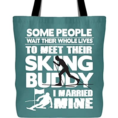 Amazon.com: I Married My Skiing Buddy Bolsas con asas largas ...