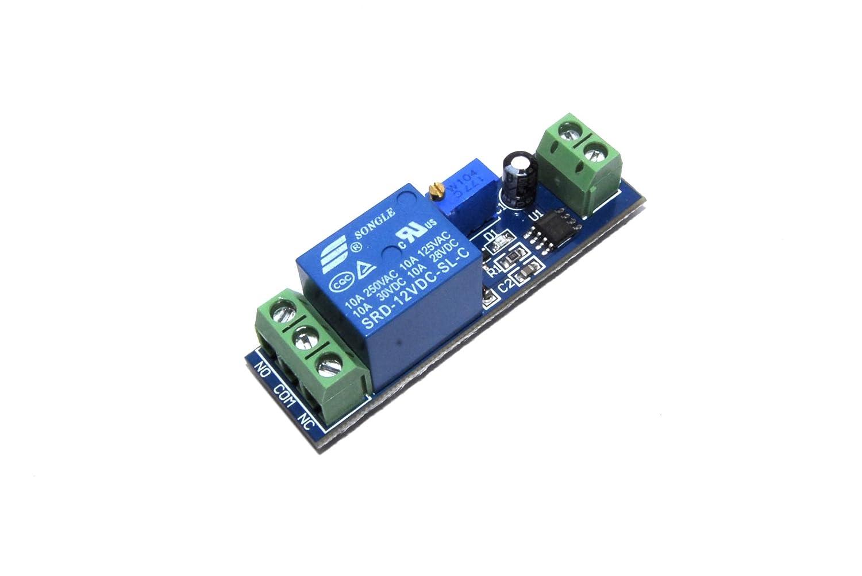 La tecnologia LC 12V Ritardo Relè Modulo SRD-12VDC-SL-C 250V AC DC 10s Flux Workshop