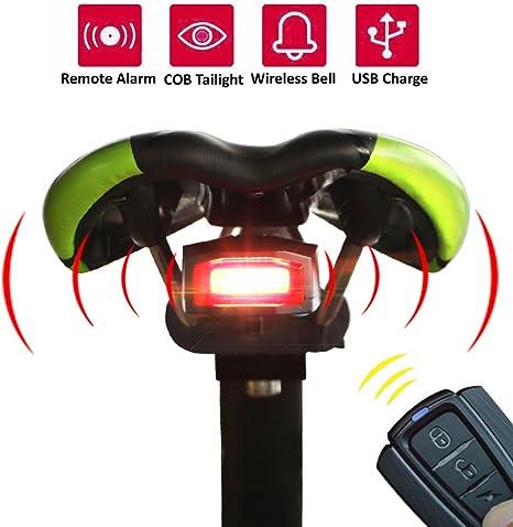 Ciclismo alarma bicicleta luz trasera, KEEDA impermeable USB ...