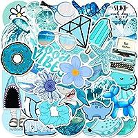 Gumindaris Blue Series Stickers (50 PCS), Stickers for Laptop,Hydro Flask,Water Bottle,Skateboard,Phone - Cute Stickers for Teens,Adults,Kids,Girls,Boys,Women - Vinyl Sticker Pack
