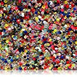 "100% Custom Made (5mm) 1000 Bulk Pieces of Mini Size ""Glue-On"" Flatback Embellishments for Decorating, Made of Acrylic Resin w/Shiny Iridescent Crafting Rhinestone Crystal Gems Style {Multi-color}"