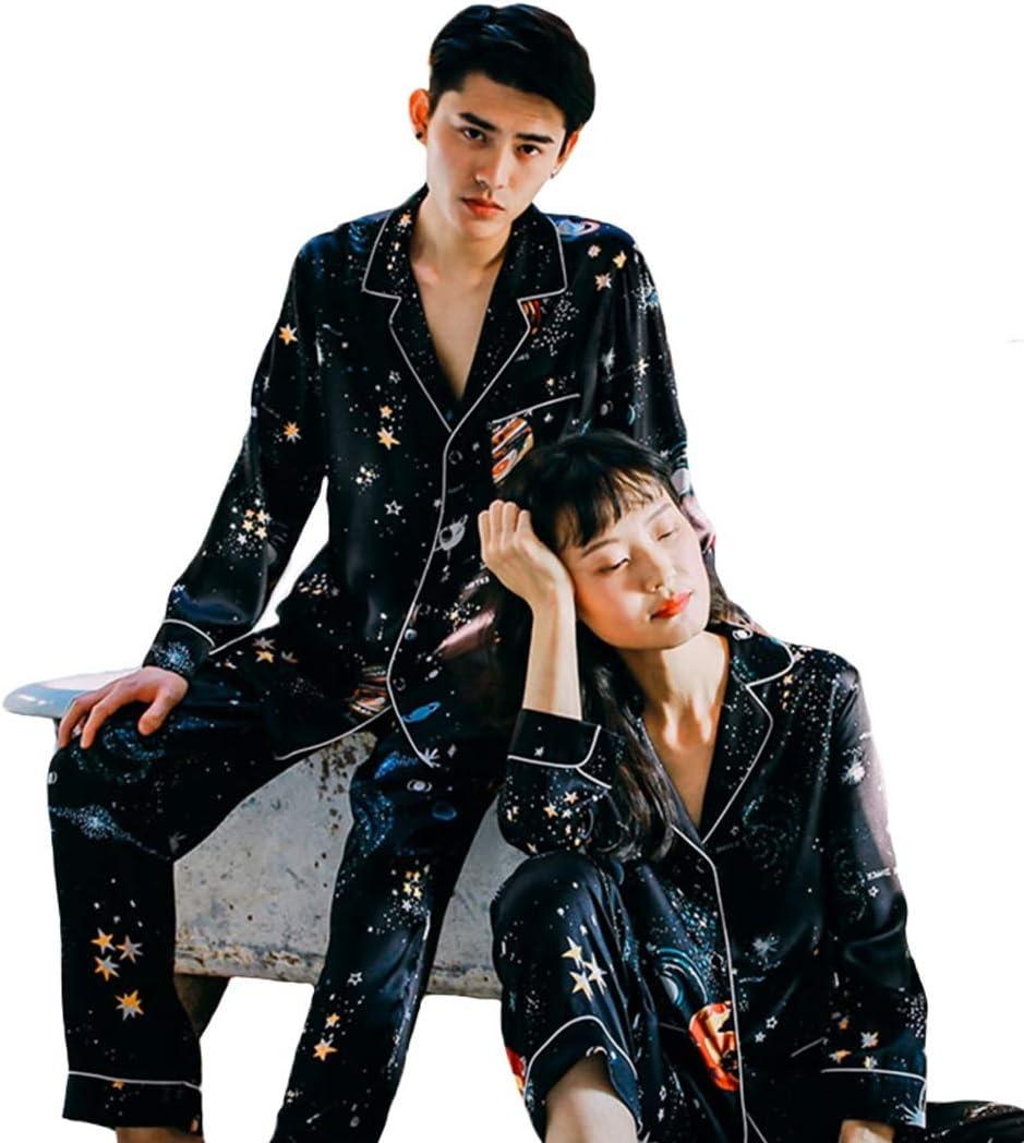 ejemplo de pijamas de seda para parejas