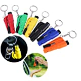 Aiydachy 6PCS Window Breaker Key Ring Cutter Portable Glass Breaker Car Emergency Escape Tool(Six