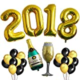 2018 BALLOONS GOLD,Graduation Party Decorations 2018 High School Graduation, College Grad Banner