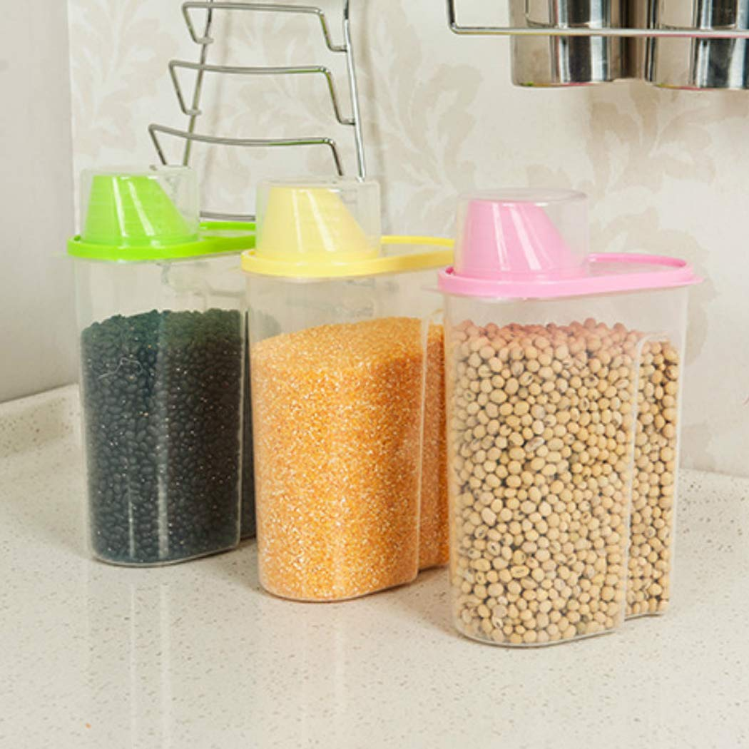 Transparent Plastic Sealed Fresh-keeping Food Storage Container Storage Jar (L)