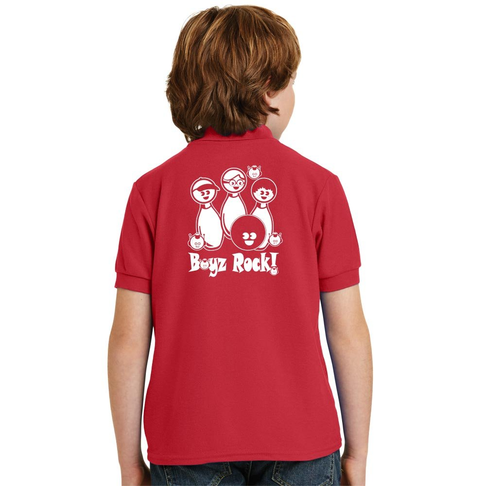 Boyz Rock Stock Print on Youth SpotShield Jersey Sport Shirt