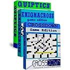 Crossdown Triple Pack: Crossdown Game, Enigmacross Game, and Quiptics