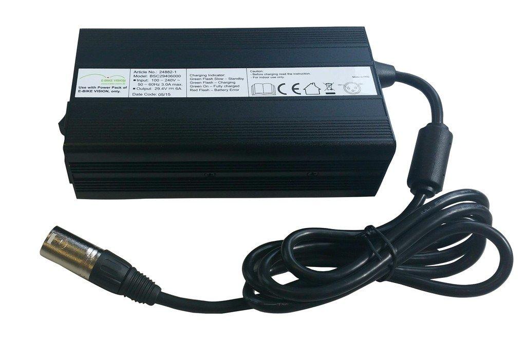 E-BIKE VISION 3050000050 Ladegerät, schwarz, 10 x 6 x 4 cm
