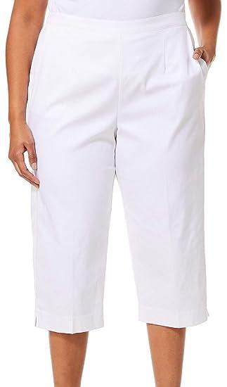 de1250c11dc Alfred Dunner Plus Turtle Cove Classic Fit Capris 22W White  Amazon.ca   Clothing   Accessories