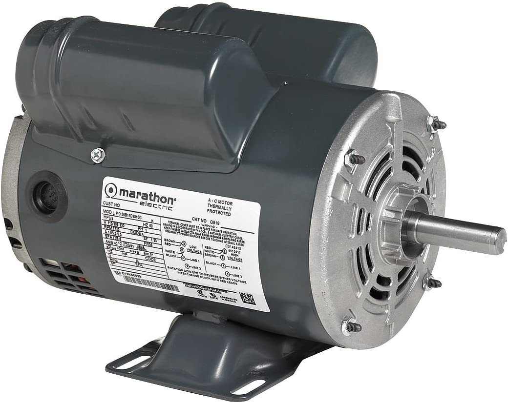 Air Compr Motor, 3 HP, 3450 rpm, 230V, 56