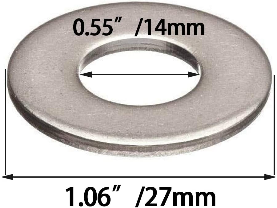 Black Oxide Finish Flat Washer(Thicken) 40Pcs M12 Steel Flat Washer