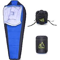 Terra Hiker Mummy Sleeping Bag with Compression Sack + Ski Gloves + Insulation Water Bottle