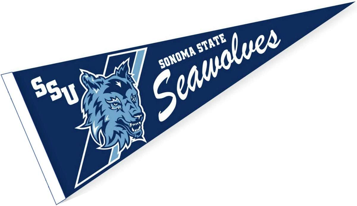 College Flags /& Banners Co Sonoma State Seawolves Pennant 12 x 30 Banner