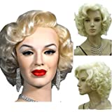 KOLIGHT Marilyn Style Wig Women Short Curly Sexy Cosplay Costume Party Hot Quality Hair Wig Girls Free Cap+ Comb