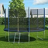 8FT Round Spring Trampoline with Ladder Safety Net Enclosure Mat SWO v