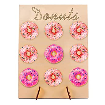 Amazon.com: Estante de madera para donas, decoración de ...