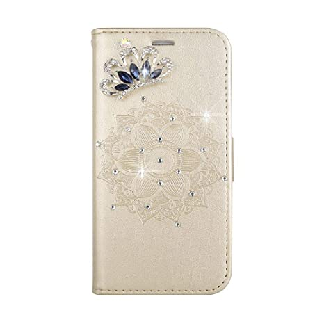 XTCASE Funda Wiko Lenny 2 Mandala Flor Glitter Diamante ...