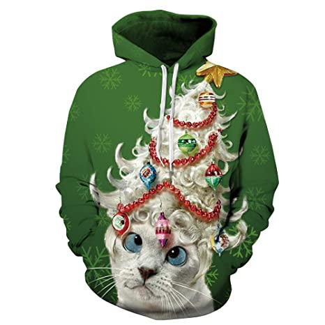 SPFAZJ Santa Traje Traje de Navidad Cosplay Gato Digital ...