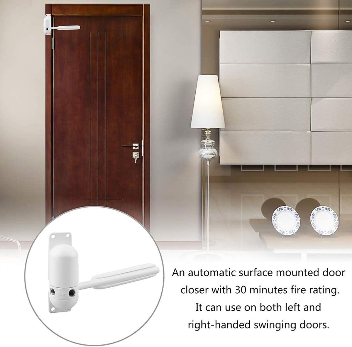 Ferme-Porte Automatique Mont/é en Surface R/églable /à Ressort pour Fermeture Automatique Yudanny Ferme-Porte Automatique