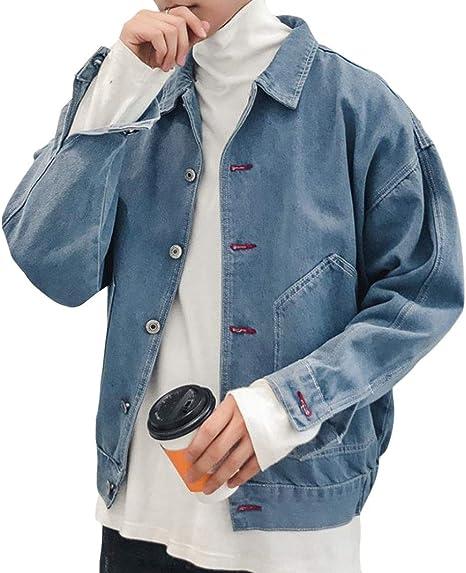 Aisaidunメンズ デニムジャケット 春 秋 折り襟 メンズ ジージャン 長袖大きいポケット メンズ 通勤 通学 メンズ アウター スタイリッシュ かっこいい カジュアル アウトドア クラシック