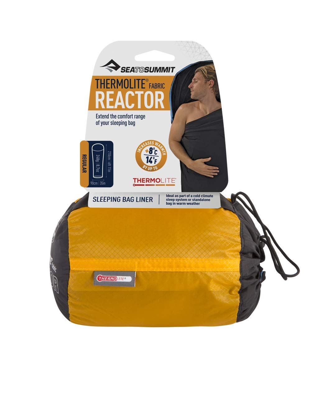 f55441c86 Sea to Summit Sleeping Bag Liner AREACTOR Reactor Thermolite: Amazon.co.uk:  Sports & Outdoors