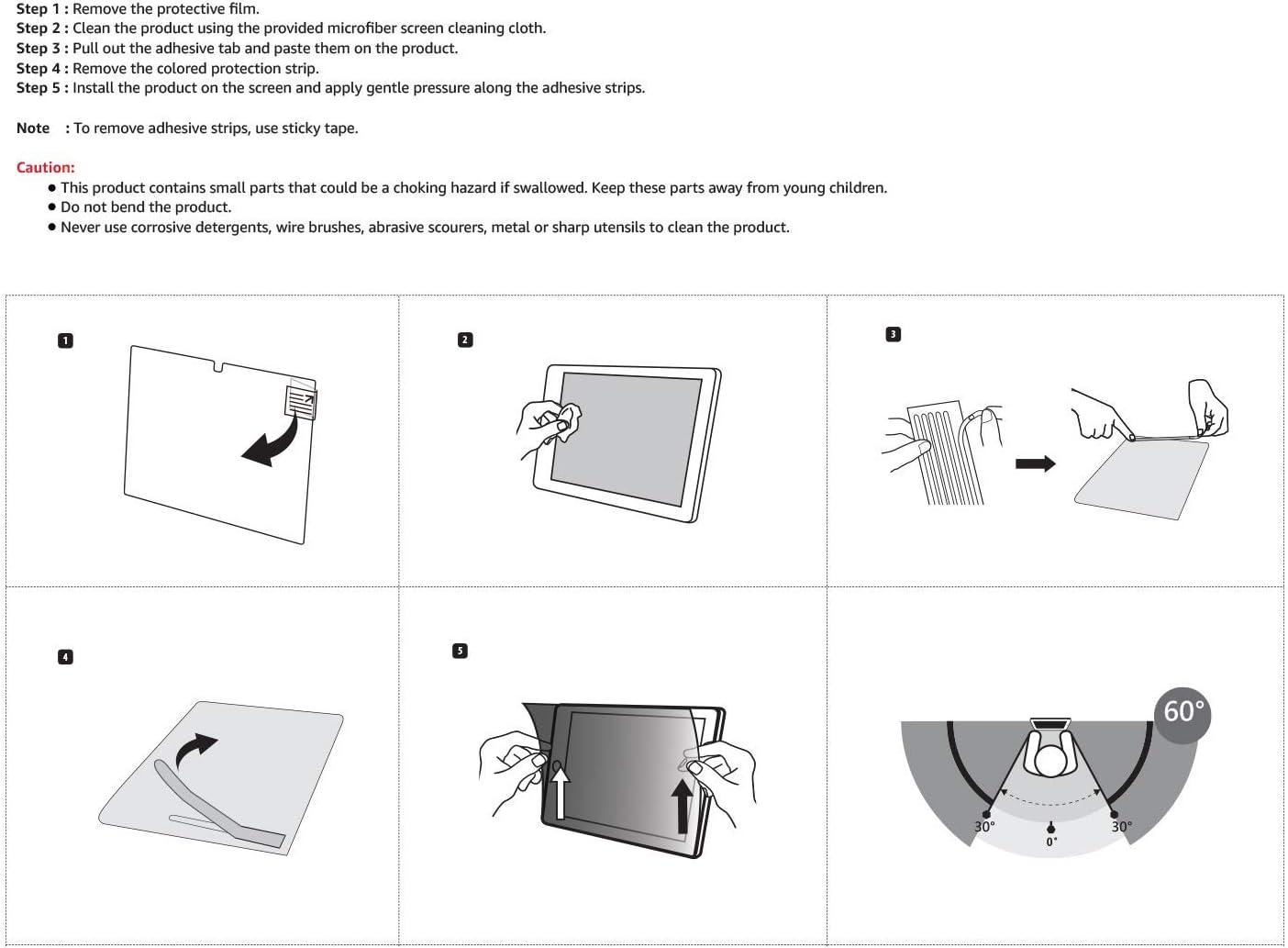 1 Portrait Basics Slim Privacy Screen Filter for 9.7 Inch iPad Air Pro 2 Renewed
