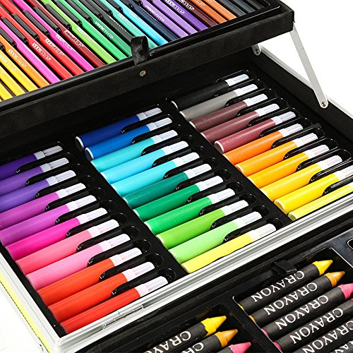 JIANGXIUQIN Artist Art Drawing Set, 133 Pieces of Art, Painter, Watercolor, Painting, Drawing, Coloring, Crafts, Teachers, Amateurs, Professionals and Beginners Gifts for Children and Children. by JIANGXIUQIN (Image #2)