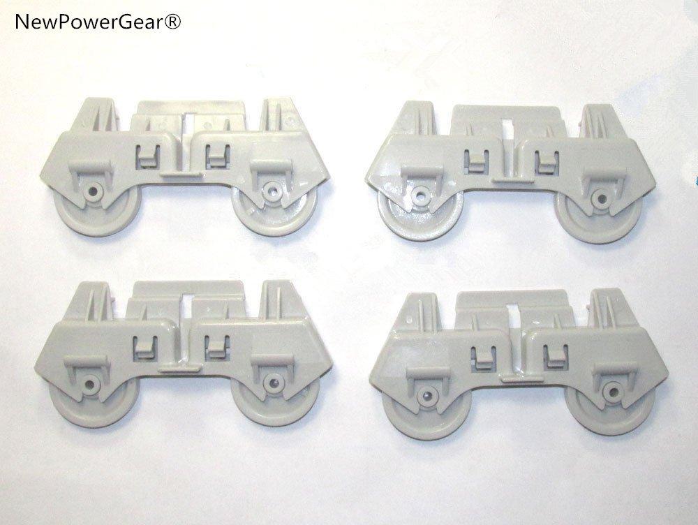 NewPowerGear 4 Pack Dishwasher Rack Wheels Replacement For WU3000V0 WU3006V0 WU3006V1 WU4400V0 WU4400V1 WU4406V1 WU5650V0 WU6850V0 4317933 8268713 AP3139103 303991 3368577