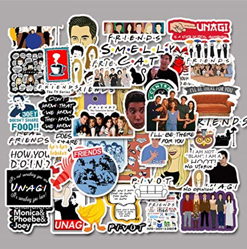 DZCYAN 50pcs Friends TV Show Fans Gift Decoration Sticker for DIY Scrapbooking Album Laptop Luggage Phone Decal Sticker