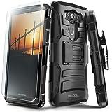 Evocel LG V10 Case [Generation Series] Rugged Holster [Kickstand & Belt Swivel Clip] + HD Screen Protector For LG V10, Black (EVO-LGV10-AB201)
