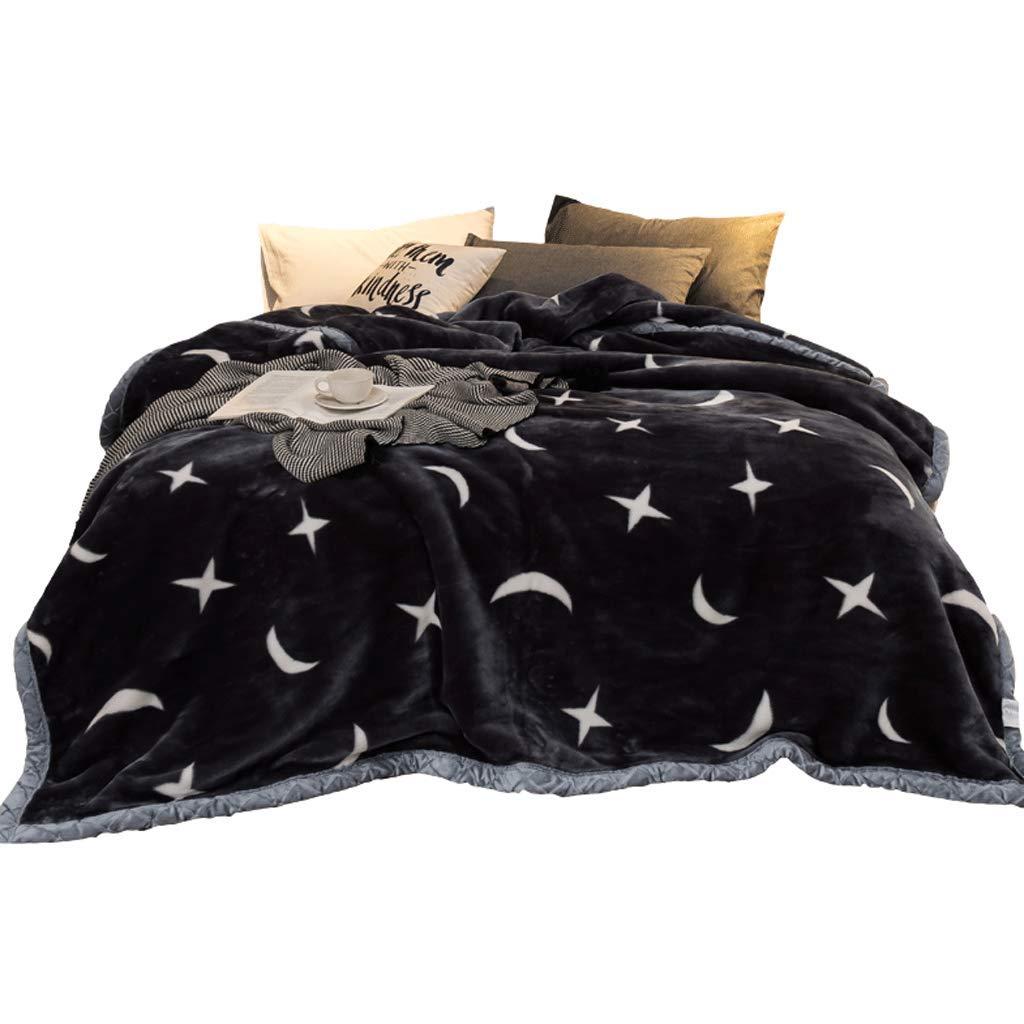 ラケットブランケット Night 195X225cm、厚手の暖かい二重フランネルピーチ、星の暖かい二重毛布 B07Q265B6D (色 : Night sky, サイズ さいず : 195X225cm) 195X225cm Night sky B07Q265B6D, ハピネスセレクトショップ:f1b22867 --- ijpba.info