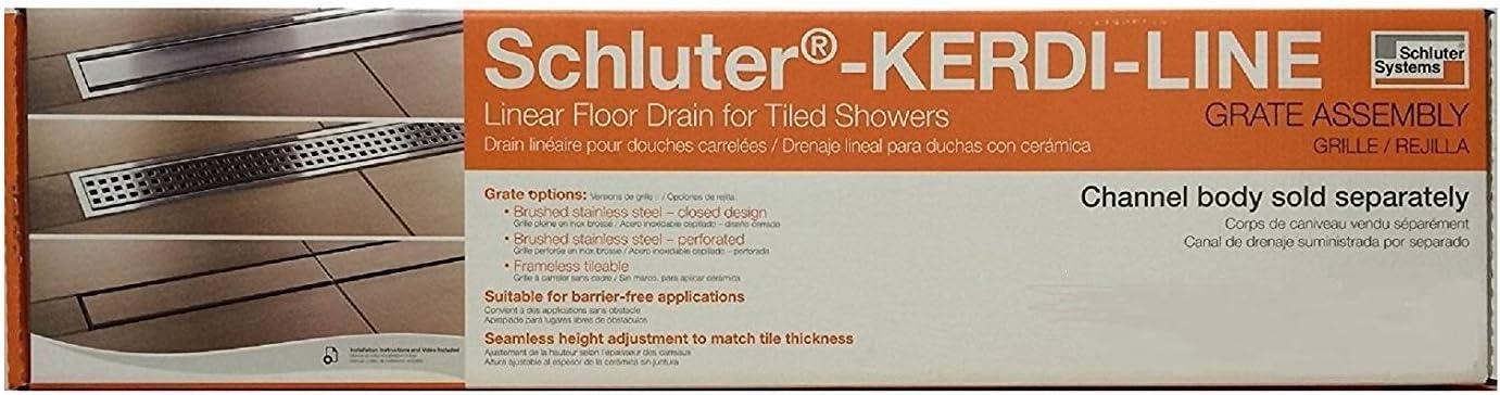 KL1DRE50 Schluter Systems Kerdi-Line Frameless 20 Tileable Grate Assembly