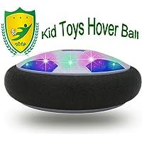 JRD&BS WINL Pallone da Calcio da Casa Fluttuante, Aria Hover Calcio da Interno con LED Luce A Regalo di Compleanno per Un Bambino di 3-12 Anni(Blu 02)