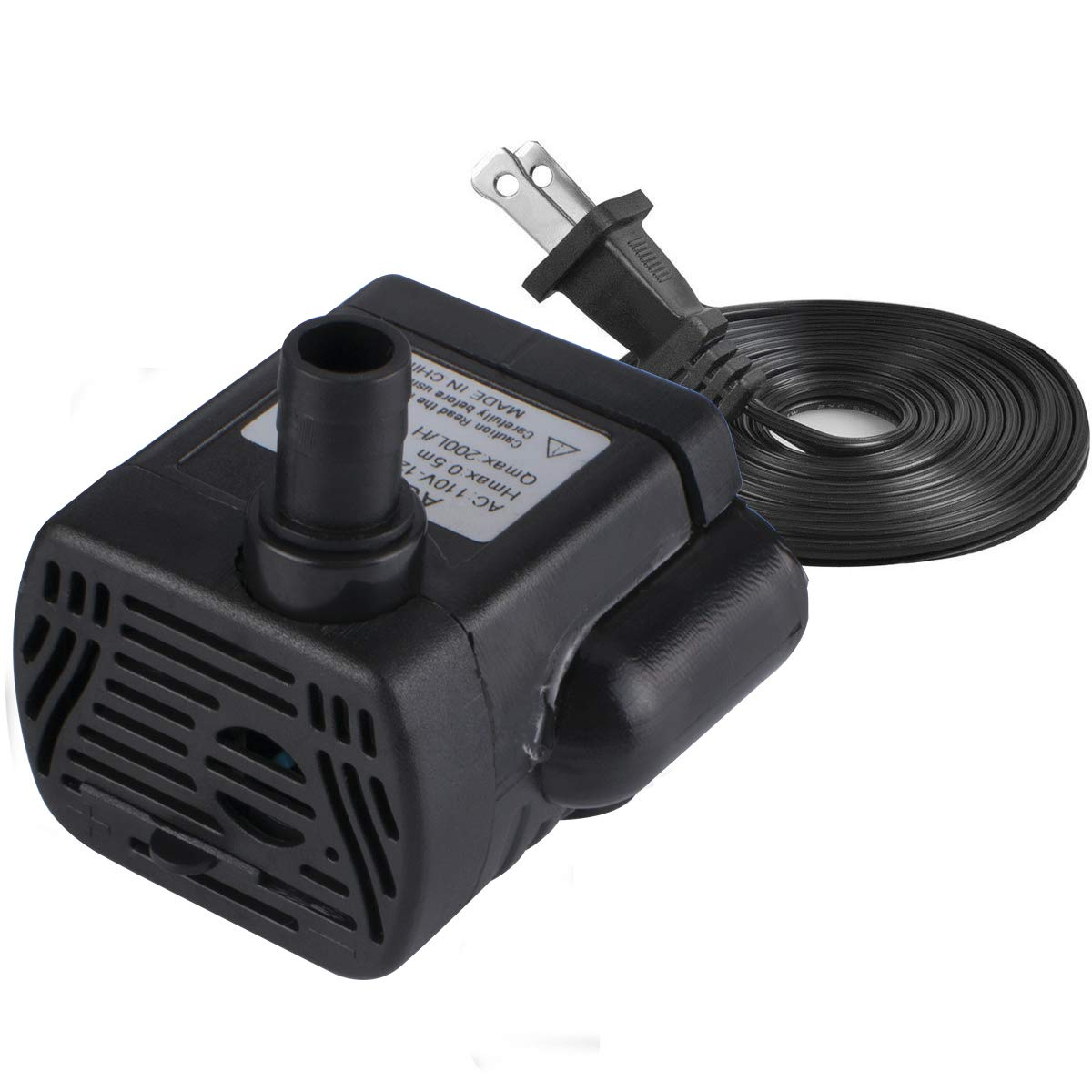 Xelparuc 200L/H 4W Submersible Water Pump, Ultra Quiet for Pond, 1.6ft High Lift, Aquarium, Fish Tank Fountain, Powerful Water Pump with 4.9ft (1.5m) Power Cord