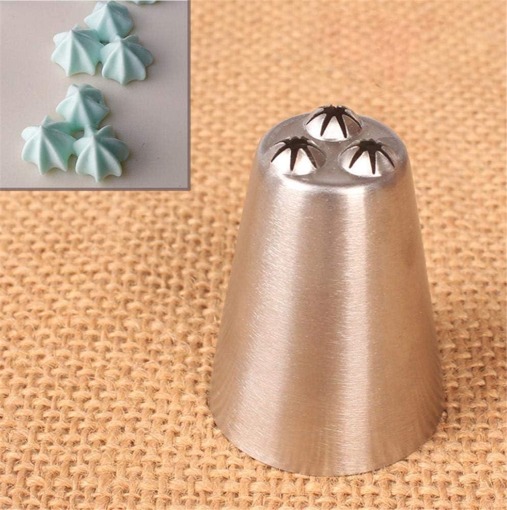 fondant de acero inoxidable con forma de estrella de tres agujeros DUORUI 2 boquillas de glaseado para decoraci/ón de tartas